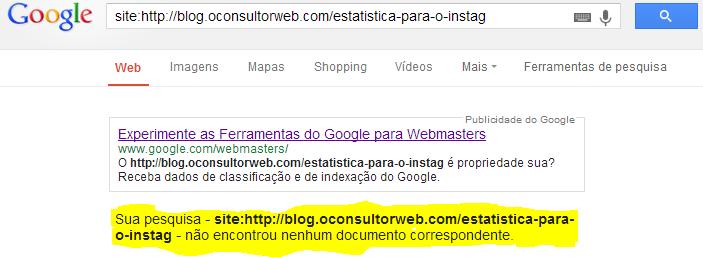 como saber se meu artigo está no Google II