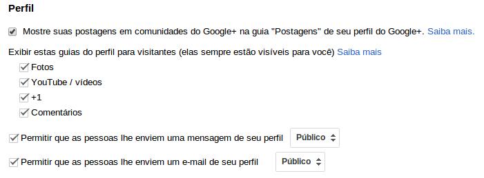 ativar envio de mensagem e email no Google Plus