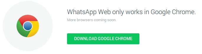 Whatsapp somente pelo Chrome
