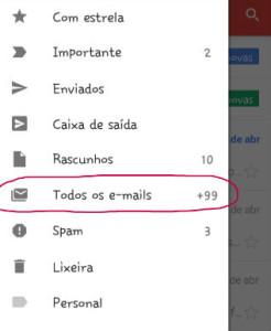 todos os e-mails