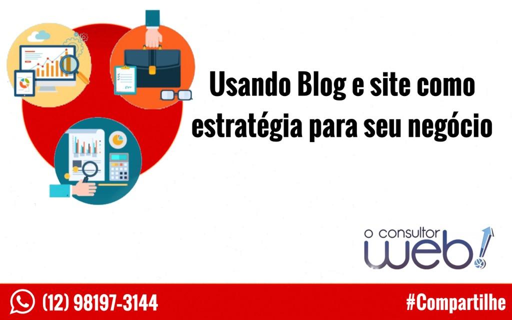 Usando Blog e site como estratégia para seu negócio