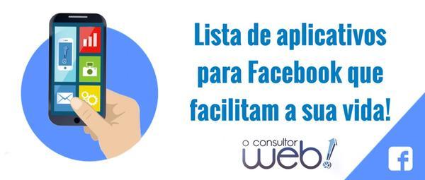 lista de aplicativos Facebook 2016